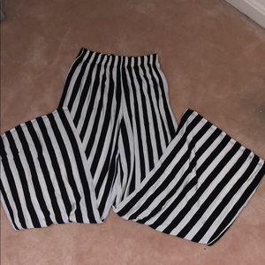 Striped Flowy Pants